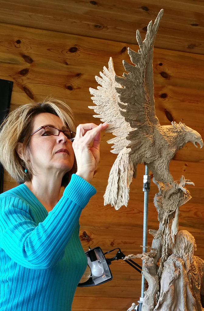 Me sculpting eaglew