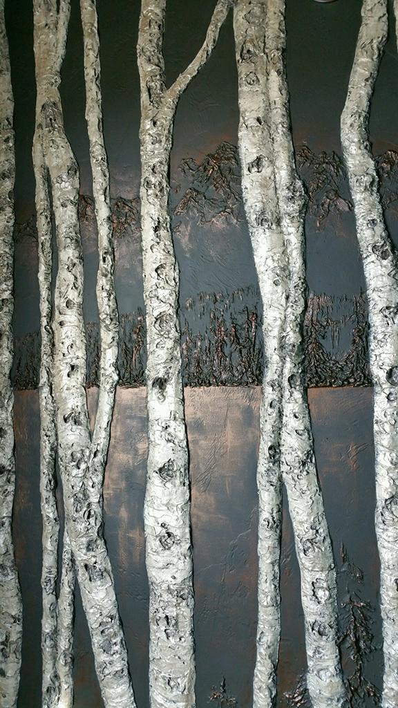 Tetons with aspensw